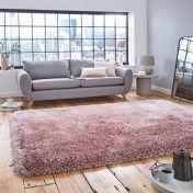 Think Rugs Montana Rose Plain Shaggy Rug
