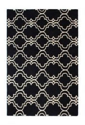 Moorish Casablanca Charcoal Wool Rug by Flair Rugs