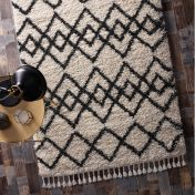 Morocco Ivory Charcoal Geometric Rug by Origins