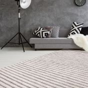 Natura 210 Natural Cream Striped Wool Rug by Unique Rugs
