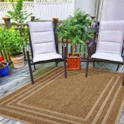 Natural Border Beige Rug By Unique Rugs
