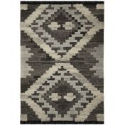 Nevado Cielo Grey White Wool Rug by Flair Rugs