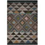 Nevado Frans Grey Multi Wool Rug by Flair Rugs