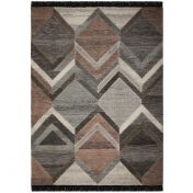 Nevado Piero Grey Pink Wool Rug by Flair Rugs