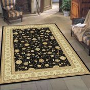 Noble Art 6529 090 Black Traditional Rug By Mastercraft