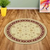 Noble Art 6529 191 Red/Beige Traditional Circle Rug By Mastercraft