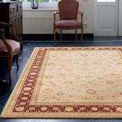 Noble Art 6529 191 Beige Red Traditional Rug By Mastercraft