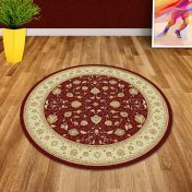 Noble Art 6529 391 Beige Red Traditional Circle Rug By Mastercraft