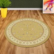 Noble Art 6529 790 Gold Traditional Circle Rug By Mastercraft