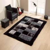 Noble House JR-04 Black Rug By Think Rugs