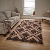 Noble House NH8199 Brown Rug by Think Rugs
