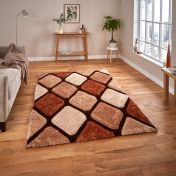 Noble House NH9247 Beige / Brown Rug by Think Rugs