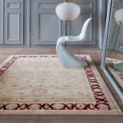 Noble Art 65124 191 Cream Red Traditional Rug by Mastercraft
