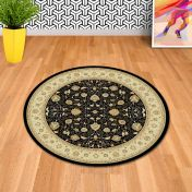 Noble Art 6529 090 Black Traditional Circle Rug By Mastercraft
