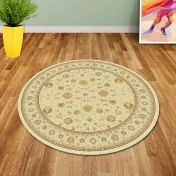Noble Art 6529 190 Beige Traditional Circle Rug By Mastercraft