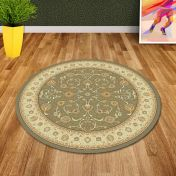 Noble Art 6529 491 Green Beige Traditional Circle Rug By Mastercraft