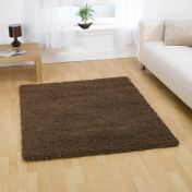 Nordic Cariboo Brown Plain Shaggy Rug By Flair Rugs