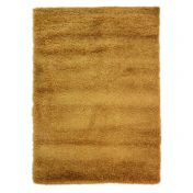 Nordic Cariboo Ochre Plain Shaggy Rug By Flair Rugs
