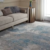 Nourison Karma KRM07 Ivory Light Blue Runner