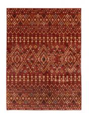 Nova Odine Red Traditional Rug by Flair Rugs