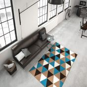 Now 200 Multi Turquoise Modern Rug by Unique Rugs