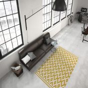 Now 300 Ivory Gold Modern Rug by Unique Rugs