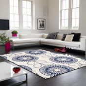 Onix ON04 Scandi Flower Indigo Rug By Asiatic
