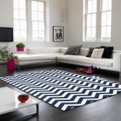 Onix ON12 Zig Zag Blue Rug By Asiatic
