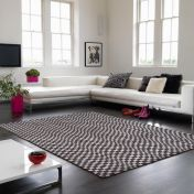 Oska Charcoal Geometric Rug by Asiatic