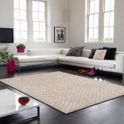 Oska Sand Geometric Rug by Asiatic