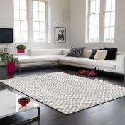 Oska Silver Geometric Rug by Asiatic
