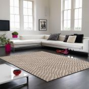 Oska Taupe Geometric Rug by Asiatic