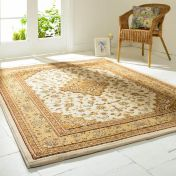 Ottoman Temple Cream Traditional Rug By Flair Rugs