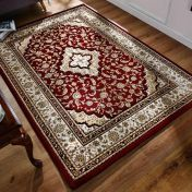 Ottoman Temple Red Traditional Rug By Flair Rugs