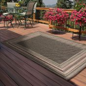 Outdoor Border Blue Rug by Rug Style