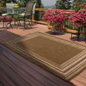 Outdoor Border Green Rug by Rug Style