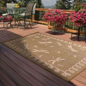 Outdoor Dragonfly Green Rug by Rug Style