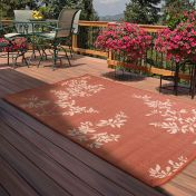 Outdoor Leaves Terracotta Rug by Rug Style
