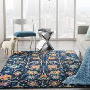 Passion PSN01 Navy Multi Rug by Nourison