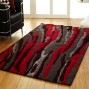 Unique Passion Abstract Design Wool Rug by Prestige