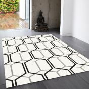 Patio PAT08 ivory Geometric Rug By Asiatic