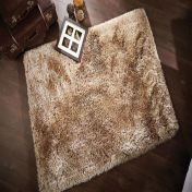 Pearl Cream Plain Shaggy Rug By Flair Rugs