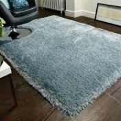 Pearl Duck Egg Plain Shaggy Rug by Flair Rugs