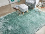 Pearl Mint Green Plain Shaggy Rug by Flair Rugs