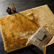Pearl Mustard Plain Shaggy Rug By Flair Rugs