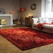 Pearl Rust Plain Shaggy Rug by Flair Rugs