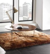 Pearl Caramel Plain Shaggy Rug By Flair Rugs