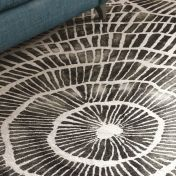 Piedra Charcoal Handtufted Wool Rug by William Yeoward