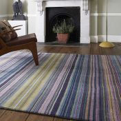 Pimlico Fine Stripe Blue Rug By Asiatic