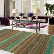 Pimlico Fine Stripe Green Rug By Asiatic
